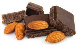 čokoláda s mandľami