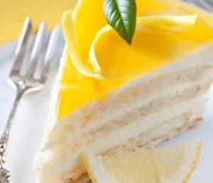 citronový dort
