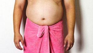 muž má nadváhu