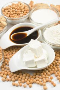 soja, tofu, omacka a sojova muka