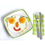 zdravý talíř - vejce a zelenina
