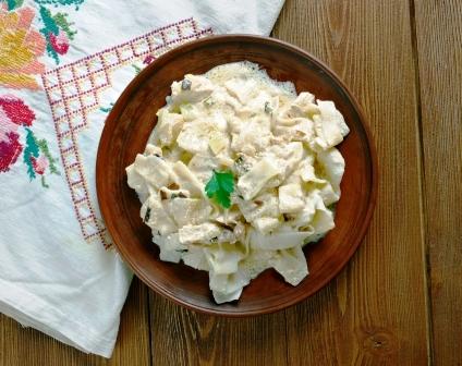 testoviny s brynzou a tofu